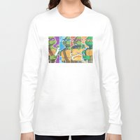 teenage mutant ninja turtles Long Sleeve T-shirts featuring Teenage Mutant Ninja Turtles - Michelangelo by James Brunner