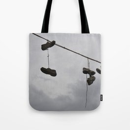 Shoes In The Air Tote Bag