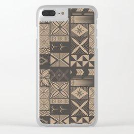 UrbanNesian Camo Siapo and Tatau Clear iPhone Case