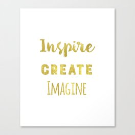 Inspire Create Imagine Canvas Print