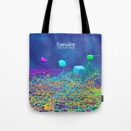 Ganglion Neurons on Blue Tote Bag