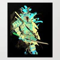 samurai Art Prints featuring Samurai by Kent Floris