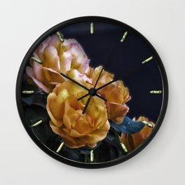 Brian's Roses Wall Clock