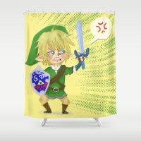 hyrule Shower Curtains featuring Zelda- Hyrule fool by Mango Mamacita