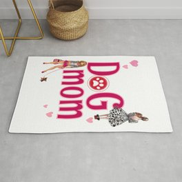 Dog Mom - Puppies Pets Furbaby Mother Mama  Design for Women Girls Rug