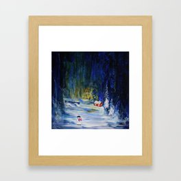 Out alone Framed Art Print