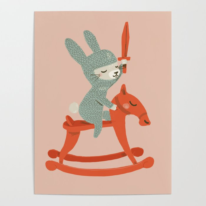 Rabbit Knight Poster