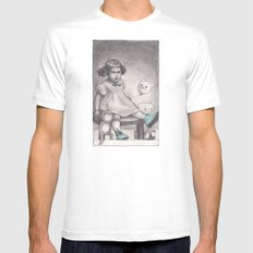 Her blue shoes Mens Fitted Tee White MEDIUM
