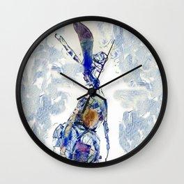 Blu Hare Too Wall Clock