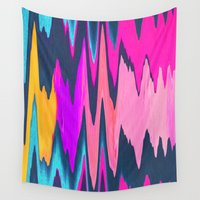 ikat Wall Tapestries featuring Funky Ikat by Jenna Davis Designs