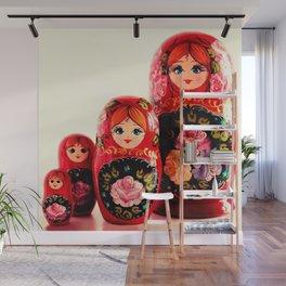 Babushka Russian Doll Wall Mural