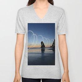 Ocean light rays Unisex V-Neck
