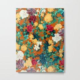 Orange Garden Metal Print