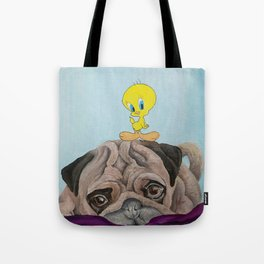 Pug & Tweety Tote Bag