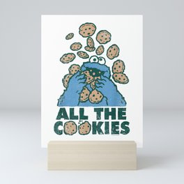 Sesame Street Cookie Monster All the Cookies T Shirt Mini Art Print