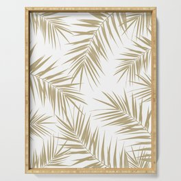 Palm Leaves Cali Finesse #2 #gold #tropical #decor #art #society6 Serving Tray