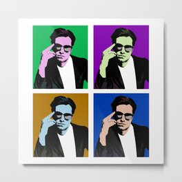Sebastian Stan Pop Art Metal Print