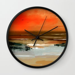 fly west Wall Clock