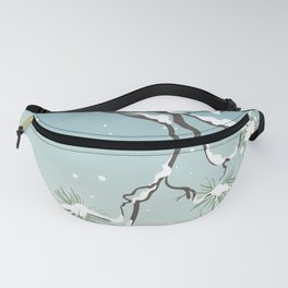 Snowy Japanese Pine Fanny Pack