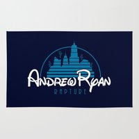 bioshock Area & Throw Rugs featuring Andrew Ryan - Rapture by adho1982