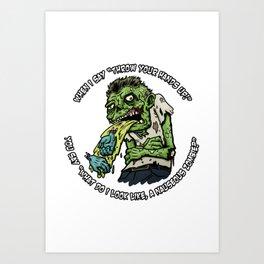 Zombie Hands Art Print