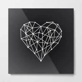 Geometric Heart Metal Print