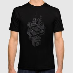 Architecture Sketch Black Mens Fitted Tee SMALL