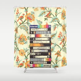 VHS & Entry Hall Wallpaper Shower Curtain