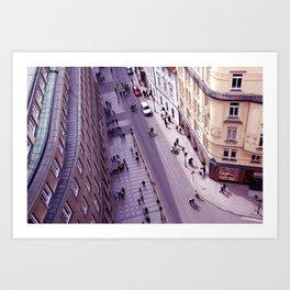 Prague street Art Print