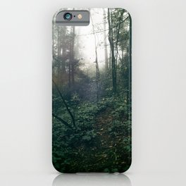 Foggy Forest Path iPhone Case