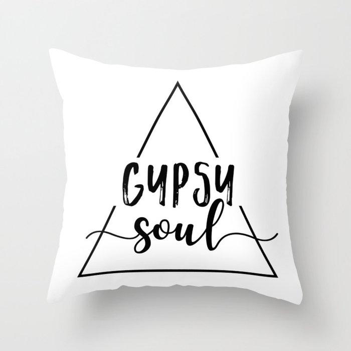 Gypsy soul triangle design Throw Pillow