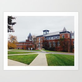 Smith Hall, College of the Holy Cross Art Print