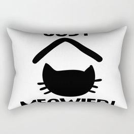 Just Married Cat Pun Rectangular Pillow