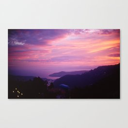 French Riviera Sunset Canvas Print
