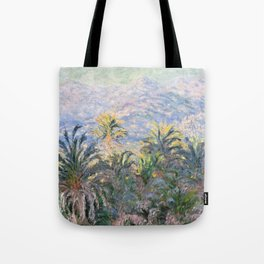 Monet and palms Tote Bag