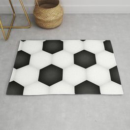 Soccer (Football) Ball pattern Rug