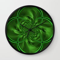 clover Wall Clocks featuring Clover by Sartoris ART