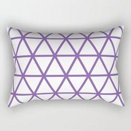 Purple Triangle Pattern 2 Rectangular Pillow