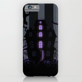 Be it ever so Haunted, there's no place like Home - Dark Gray iPhone Case