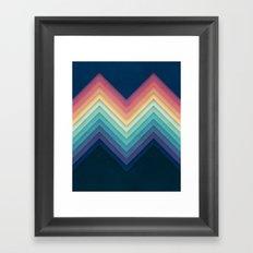 Retro Chevrons 002 Framed Art Print