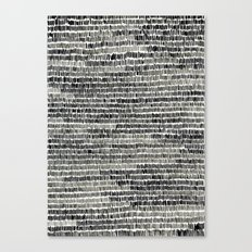 Watercolour Lines Canvas Print