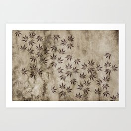 Marijuana Marble Art Print