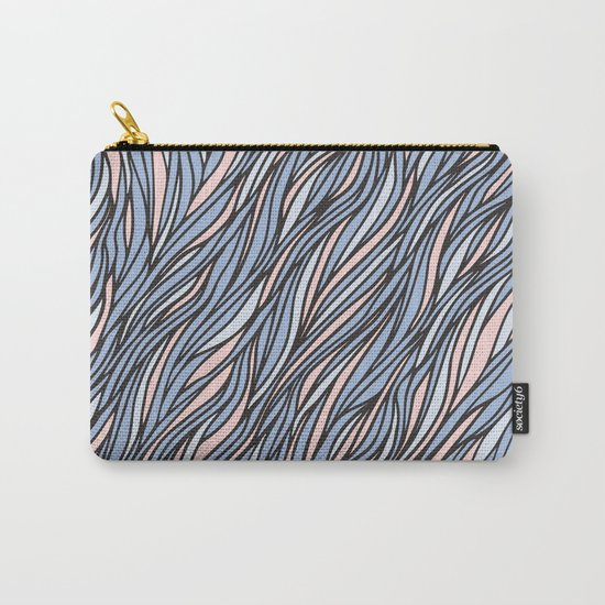 Rose quartz serenity wave pattern Carry-All Pouch
