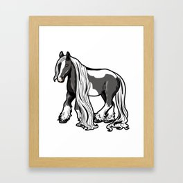 Gypsy horse Cob Gypsy Vanner Irish Cob Tinker Framed Art Print