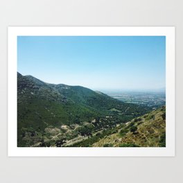 Green Mountains Art Print