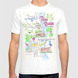 New Paso Robles Map T-shirt