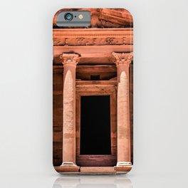 Treasury Entrance at the ruins of Petra, Jordan iPhone Case