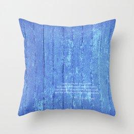 SERENITY PRAYER: BLUE BARN Throw Pillow