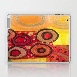 Circular Red Laptop & iPad Skin