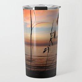 Sunset Sea Grass Travel Mug
